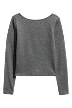 Jersey top - Dark grey - Ladies | H&M CN 2
