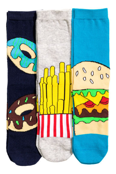 3-pack socks - Dark blue - Kids | H&M CN 1