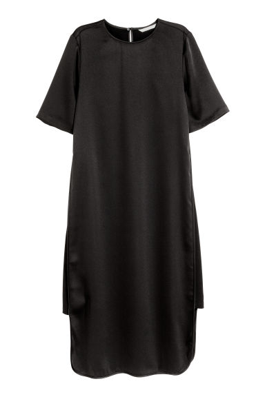Calf-length dress - Black - Ladies | H&M CN 1