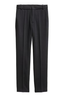 Wool-blend cigarette trousers