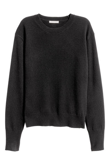 Cashmere jumper - Black - Ladies | H&M CN