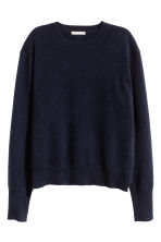 Pullover in cashmere - Blu scuro -  | H&M IT 2