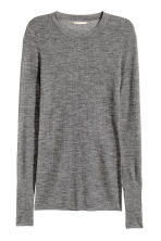 Merino wool jumper - Grey - Ladies | H&M CN 1