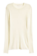 Merino wool jumper - Natural white - Ladies | H&M CN 2