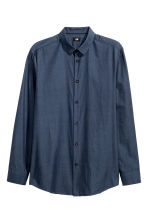Shirt Slim fit - Dark blue - Men | H&M CN 2