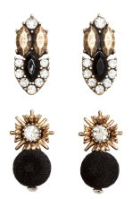 3-pack earrings - Gold/Black - Ladies | H&M 2