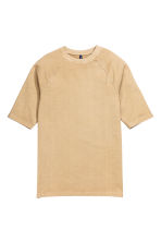 Short-sleeved sweatshirt - Beige - Men | H&M CN 2