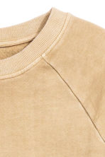 Short-sleeved sweatshirt - Beige - Men | H&M CN 3