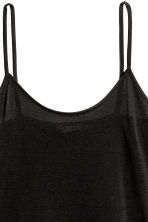 Strappy silk top - Black - Ladies | H&M GB 2