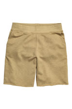 Short sweatshirt shorts - Khaki - Men | H&M CN 2