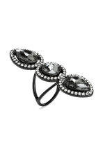 Ring with sparkly stones - Black - Ladies | H&M CN 1