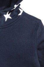 Printed hooded top - Dark blue - Kids | H&M CN 3