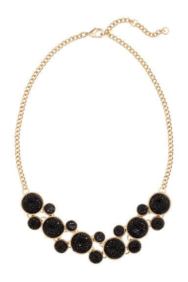 Necklace with pendants - Gold/Black - Ladies | H&M GB 1