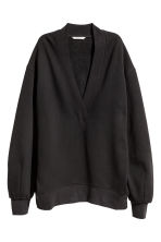 Oversized sweatshirt - Black - Ladies | H&M CN 2