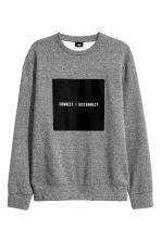 Sweatshirt - Grey marl/Text - Men | H&M CN 2