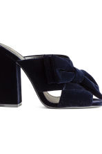 Velvet mules - Dark blue - Ladies | H&M CN 5