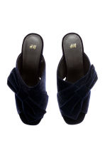 Velvet mules - Dark blue - Ladies | H&M CN 3