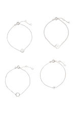 4-pack bracelets - Silver - Ladies | H&M CN 2