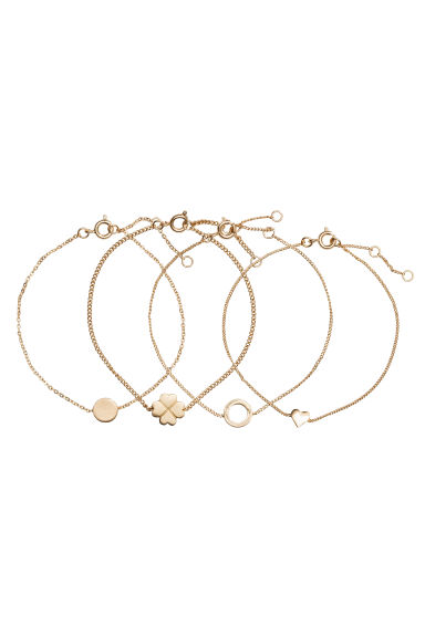 4-pack bracelets - Gold - Ladies | H&M CN