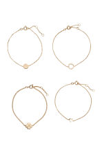 4-pack bracelets - Gold - Ladies | H&M 2