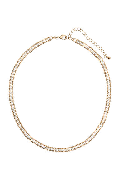 Necklace with sparkly stones - Gold - Ladies | H&M CN 1