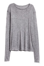 Top in silk-blend jersey - Grey marl - Ladies | H&M CN 2