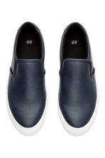 Slip-on trainers - Dark blue - Men | H&M CN 2