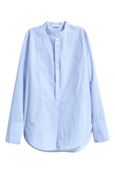 Premium cotton shirt - Blue -  | H&M CN