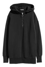 Oversized hooded top - Black - Ladies | H&M CN 2