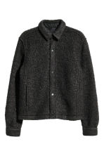 Bouclé shirt jacket - Black - Men | H&M CA 2