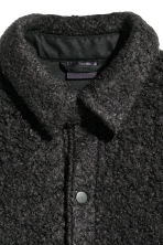 Bouclé shirt jacket - Black - Men | H&M CA 3