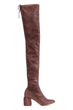 Thigh high boots - Bronze - Ladies | H&M CN 1