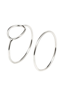 2-pack silver-plated rings