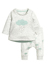 Top and trousers - Light grey/Cloud - Kids | H&M CN 1