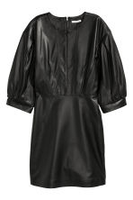Balloon-sleeved leather dress - Black - Ladies | H&M CN 2