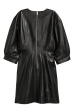 Balloon-sleeved leather dress - Black - Ladies | H&M CN 3