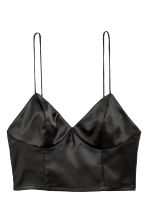 Satin bustier - Black - Ladies | H&M CN 2