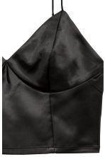 Satin bustier - Black - Ladies | H&M CN 3