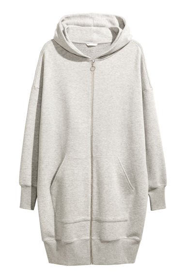 Oversized sweatshirt dress - Light grey marl - Ladies | H&M CN 1
