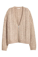 Cardigan in maglia a coste - Beige mélange - DONNA | H&M IT 1