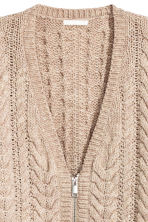 Cardigan in maglia a coste - Beige mélange - DONNA | H&M IT 2