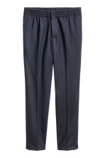 Elasticated suit trousers - Dark blue - Men | H&M CN 2