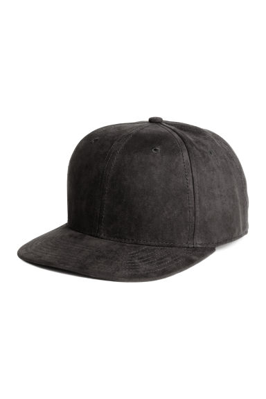 Imitation suede cap - Black - Men | H&M CN 1