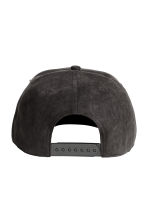 Imitation suede cap - Black - Men | H&M CN 2