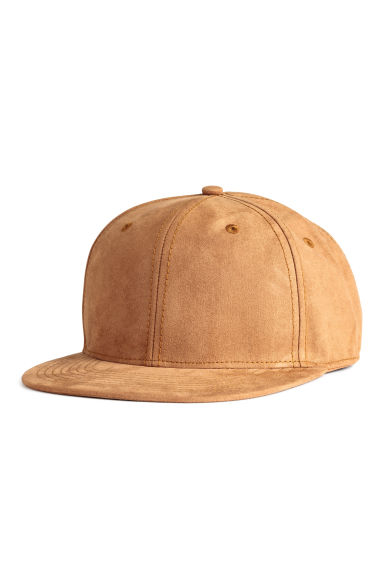 Imitation suede cap - Camel - Men | H&M CN 1