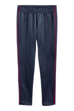 Joggers in acetato - Blu scuro/rosso - DONNA | H&M IT 2