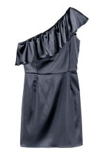 One-shoulder dress - Dark blue - Ladies | H&M CN 2