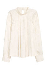 Patterned blouse - Natural white - Ladies | H&M CN 2