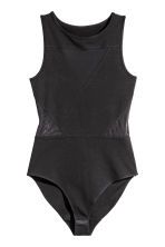 Body with mesh details - Black - Ladies | H&M CN 2