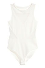 Body with mesh details - White - Ladies | H&M CN 1